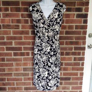 Like new Lauren Ralph Lauren black white dress